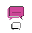 comic speech pink vector image