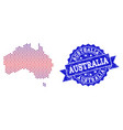composition of gradiented dotted map of australia vector image