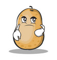 confused potato character cartoon style vector image vector image
