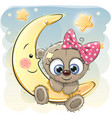 cute cartoon teddy bear girl vector image
