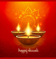 diwali light candle background happy celebration vector image vector image