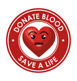 donate blood healthcare icon vector image