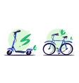 eco transport flat color vector image vector image