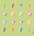 edit icon set vector image vector image