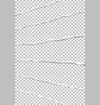 elongated layers of torn transparent paper vector image vector image