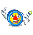 Finger yoyo mascot cartoon style