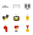 football things icons set flat style vector image vector image