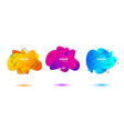 geometric flowing liquid shapes vector image vector image
