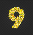 gold glittering number9t vector image