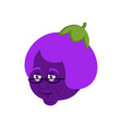 grandmother eggplant face purple grandma vector image vector image