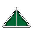 green tent design vector image vector image