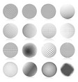 halftone sphere abstract gradient dotted texture vector image