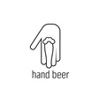 hand beer concept design template vector image
