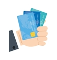 holding credit card bank vector image