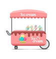 ice cream street food cart colorful image vector image vector image