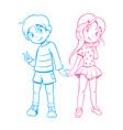 Kids in love vector image