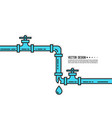 leaking water pipes vector image