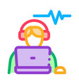 listening audio icon outline vector image vector image