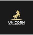 logo unicorn jump silhouette style vector image vector image