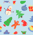 merry christmas abstract seamless pattern vector image