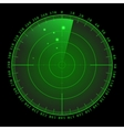 Military green radar screen with target vector image vector image