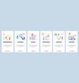 mobile app onboarding screens hardware tools vector image vector image