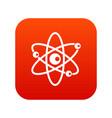 molecules of atom icon digital red vector image vector image