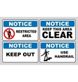 Notice information banner set vector image