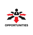opportunities icon design template isolated vector image