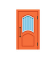orange entrance door to house closed elegant door vector image vector image