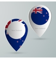 paper map marker for maps new zealand vector image