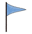 pennant flag isolated vector image