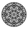 Polish traditional black folk pattern in circle vector image vector image