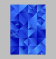 polygonal triangle page template - abstract blue vector image vector image