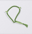 rosary isolated on white background islamic vector image vector image