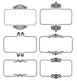set calligraphic frames vector image vector image