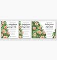 set of design cute wedding invitations greeting vector image vector image