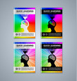 set quick learning brochure or book cover vector image vector image