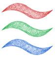 Sketch wave line graphic design element set vector image