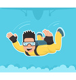 skydiver vector image vector image