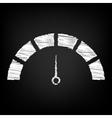 Speedometer sign Scribble effect vector image vector image