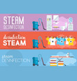 steam disinfection flat vector image