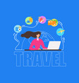 summer vacation travel planning flat banner vector image vector image
