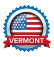 Vermont and USA flag badge vector image vector image