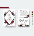 wedding invite save the date thank you card design vector image vector image