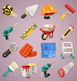construction icons set1 1 vector image