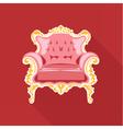 Digital golden and pink vintage chair vector image