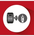 digital smartwatch healthy syringe vector image
