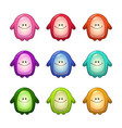 colorful funny monsters set vector image