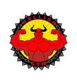 Hellish gym Emblem for the fitness room Logo vector image